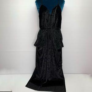 BCBGeneration Dress Medium Black Velvet Drape NWT